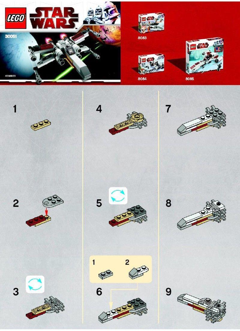 Star Wars - X-wing [Lego 30051] | lego | Lego instructions