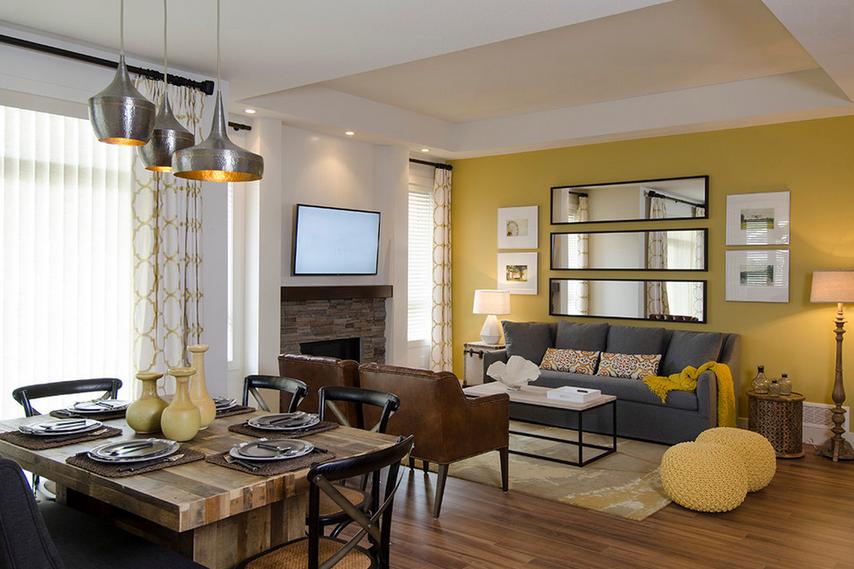 d cor chaleureux avec du jaune des id es pour la maison chaleureuse jaune et salon. Black Bedroom Furniture Sets. Home Design Ideas