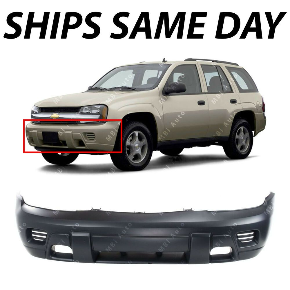 Primered Front Bumper Cover Replacement For 2002 2008 Chevy Trailblazer Suv Aftermarketreplac Chevy Trailblazer 2008 Chevy Trailblazer Chevrolet Trailblazer