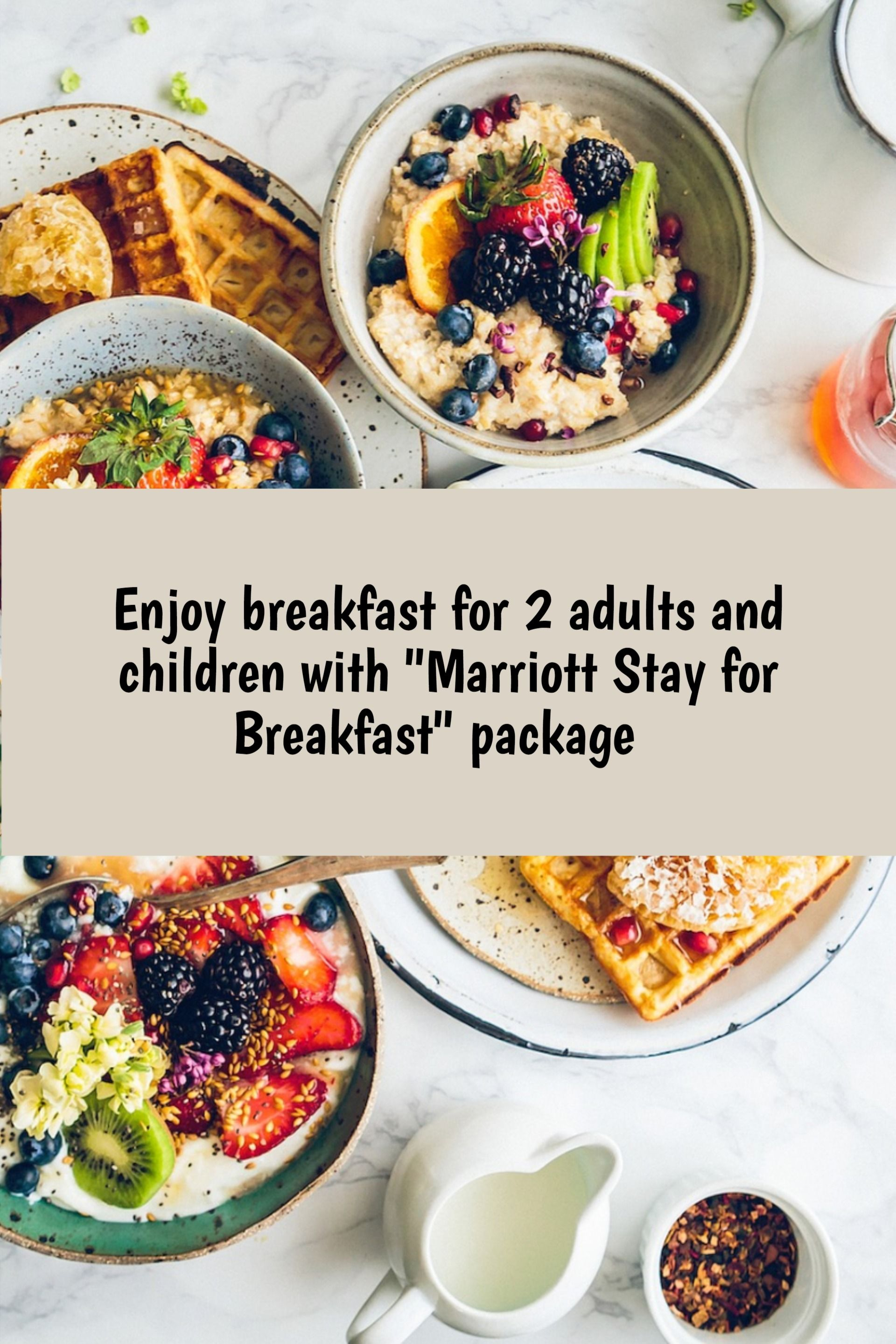 Enjoy breakfast for 2 adults and children when you book the