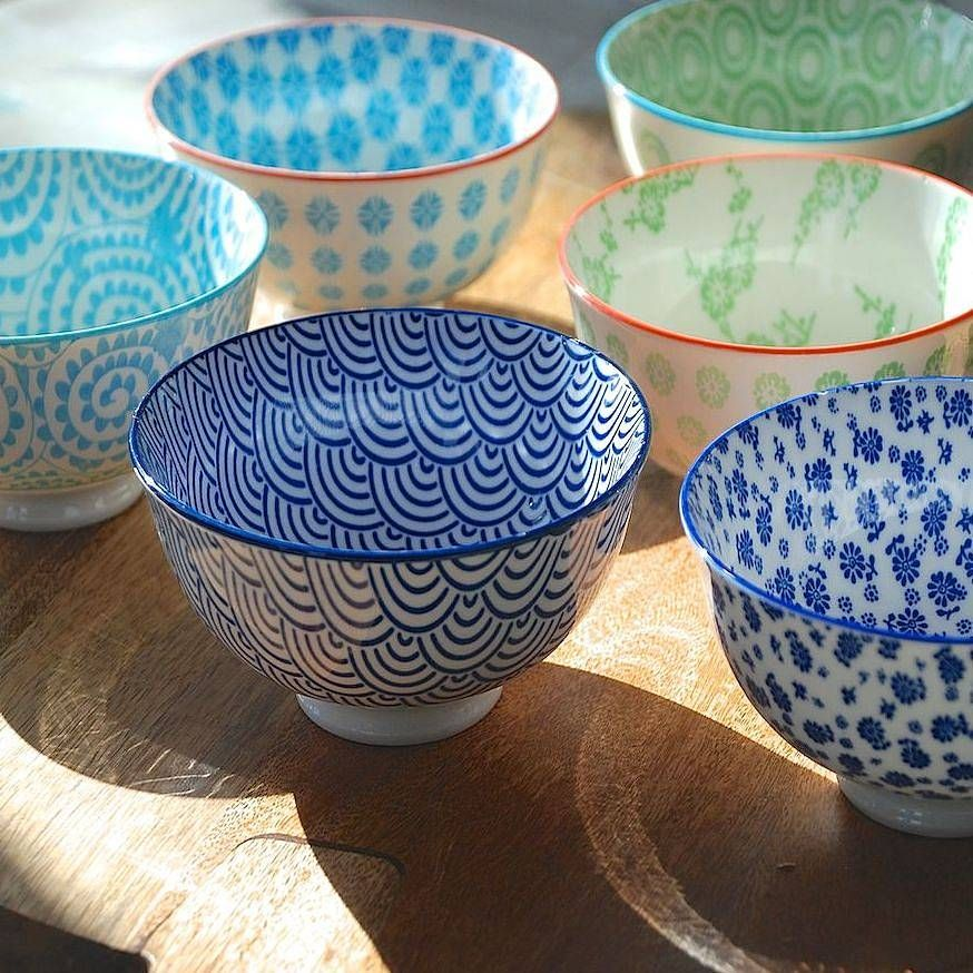 set of four japanese dipping bowls by penelopetom direct ltd | notonthehighstreet.com
