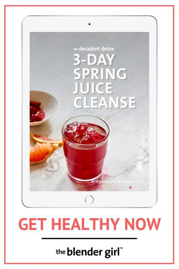 Our 3 Day Spring Juice Cleanse plan contains a three day menu of delicious detox juice fast recipes and comprehensive information on what to do and how to do a juice cleanse program safely and effectively for weight loss, to reboot your body, and get healthy. #springjuicecleanse #detox #cleanse #juicefast