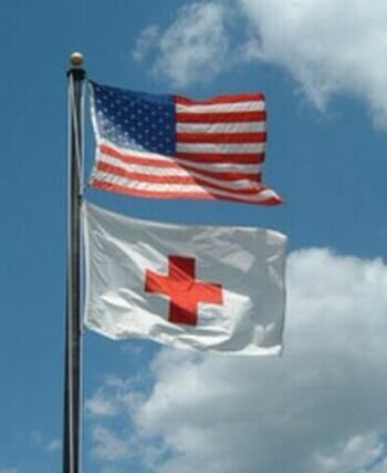 The American Red Cross Flag Was Officially Flown For The First Time In 1881 American Red Cross American Red Cross Volunteer Red Cross Volunteer