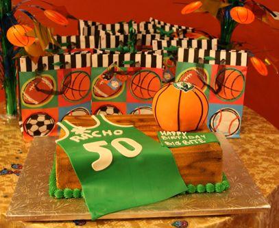 Custom Birthday Cake Basketball Themed Cake Palermo S