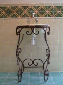 sinks ovalround wrought iron sink stand 1