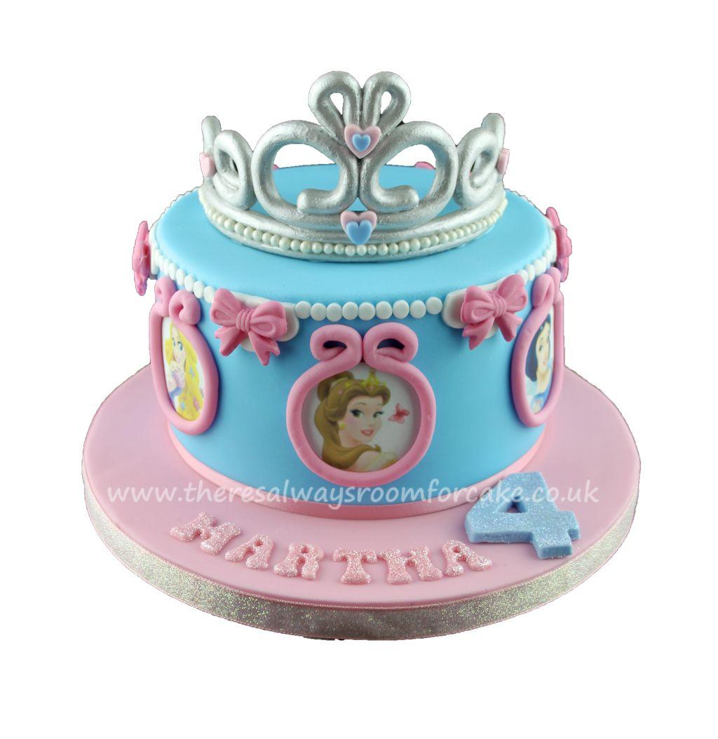 Disney Princess Tiara Birthday Cake Fiesta De 3 Aos Pinterest