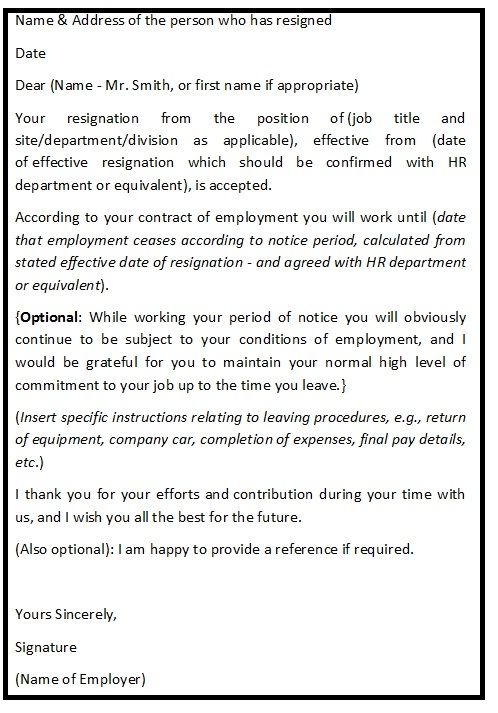 A Graceful Resignation Letter With Professionally Sound Reasons To