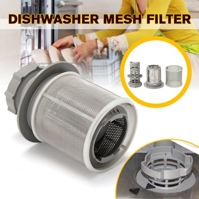 2 Part Dishwasher Mesh Filter Set Grey Pp Stainless Steel For Bosch Dishwasher 427903 170740 Series Replacement For Dishwa Bosch Dishwashers Dishwasher Bosch