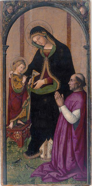 Virgen de las Fiebres //   Il Pinturicchio (ca. 1454-1513) //   Museo de Bellas Artes de Valencia