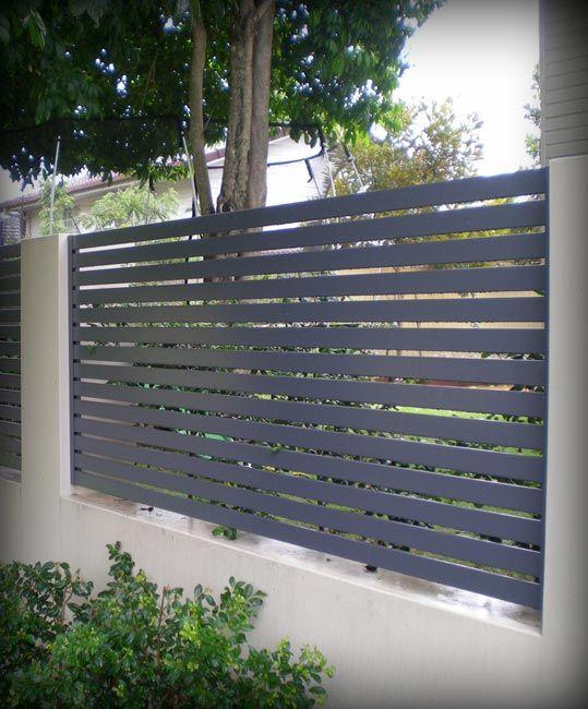 Fencing Ezi Slat Aluminium Fencing Slat Fence Stratco Fence Design Aluminum Fence Modern Fence Design