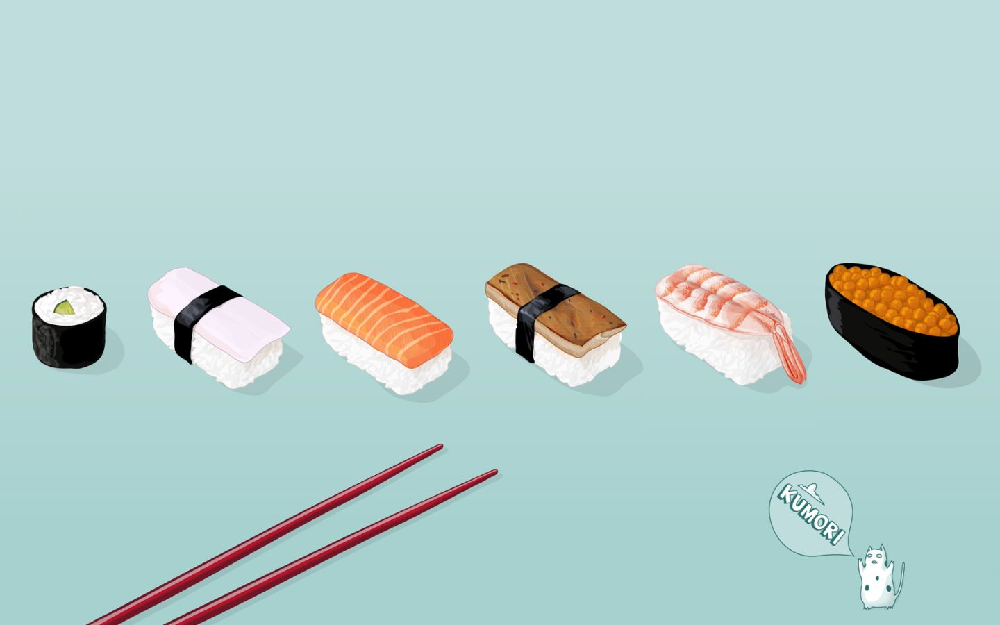 View, download, comment, and rate this 1440x900 Sushi