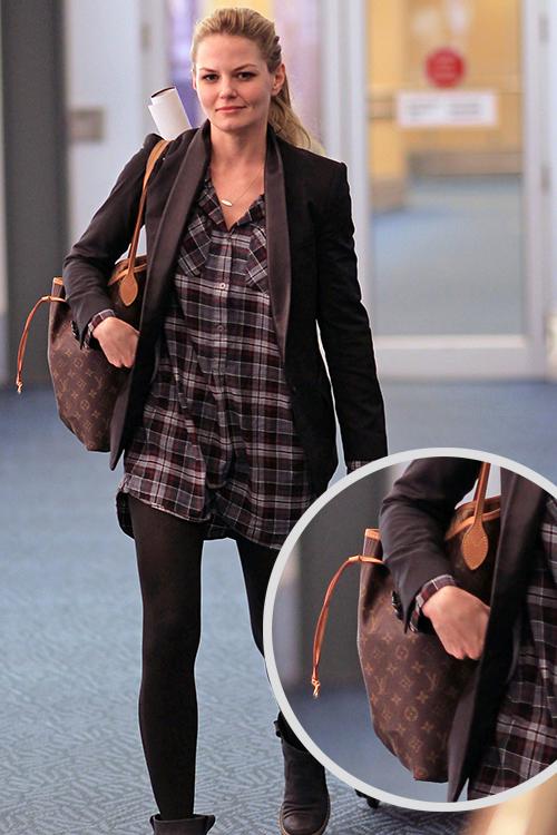 Jennifer Morrison Style Louis Vuitton 'Neverfull MM' tote in Monogram Canvas