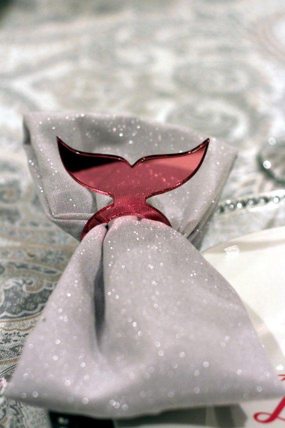 Mermaid Tail Acrylic Napkin Ring By Mysentimentsinvites