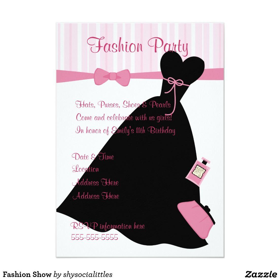 Fashion Show Invitation Template Elegant Fashion Show Invitations Example Invitation Template Fashion Show Invitation Invitation Examples