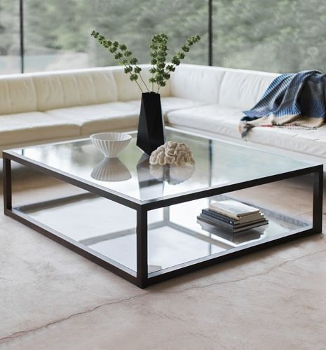 Apollo Rectangular Square Coffee Table Modern Glass Coffee Table