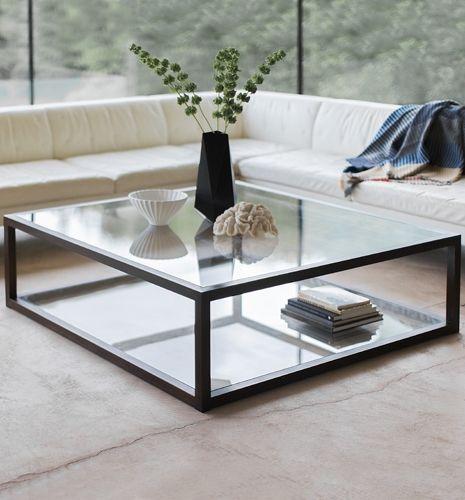 Apollo Rectangular Square Coffee Table Modern Glass Coffee Table