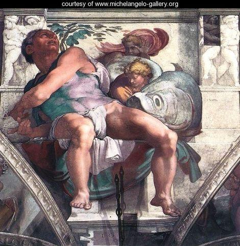 Jonah 1511 - Michelangelo Buonarroti - www.michelangelo-gallery.org