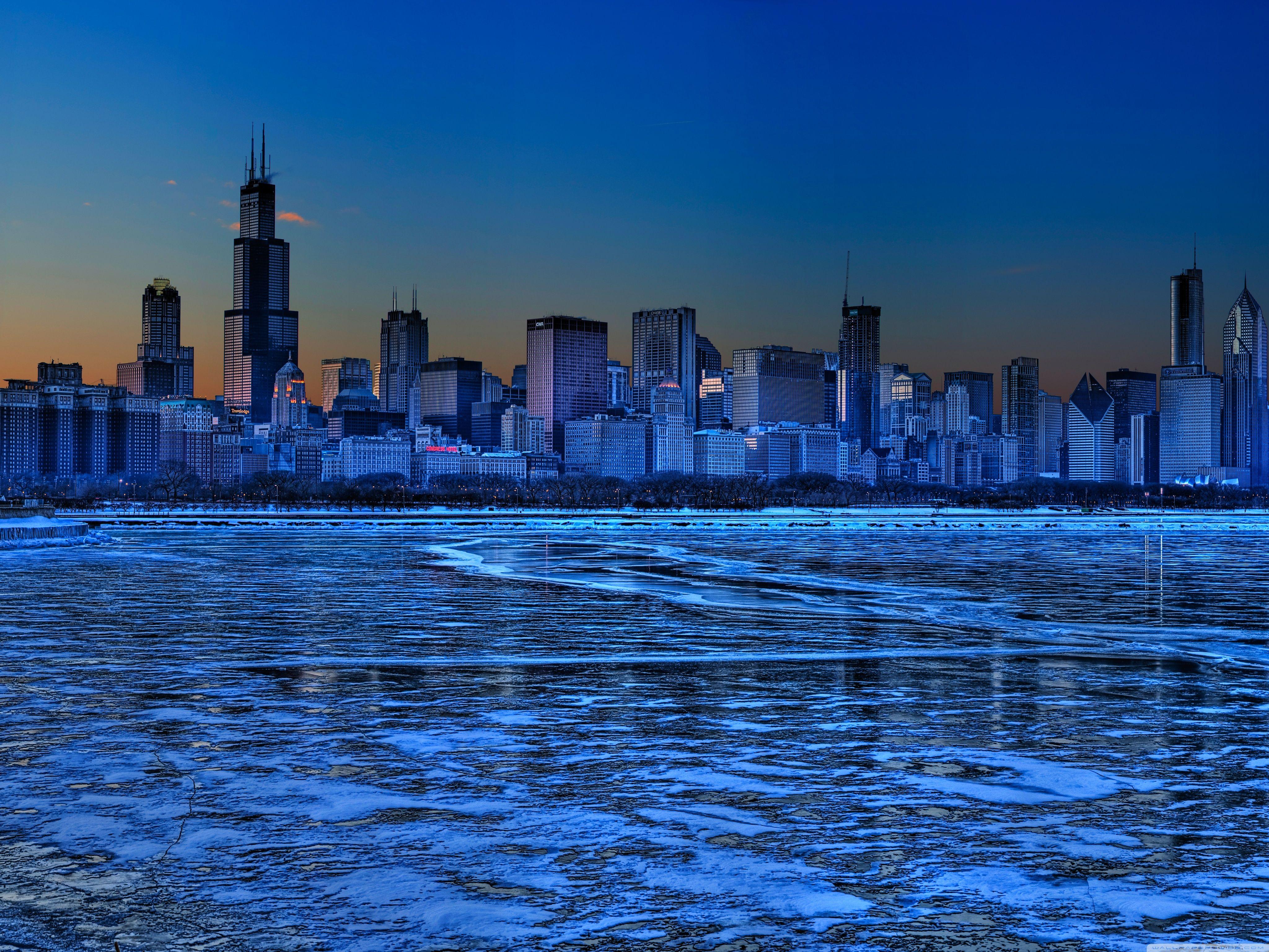 Chicago Skyline Hd Desktop Wallpaper High Definition