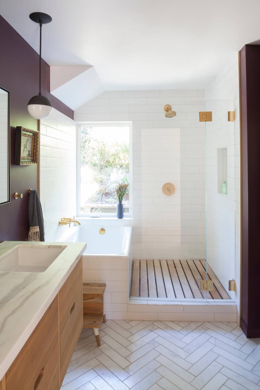 West Marin Organic Remodel - Midcentury - Bathroom - San ...