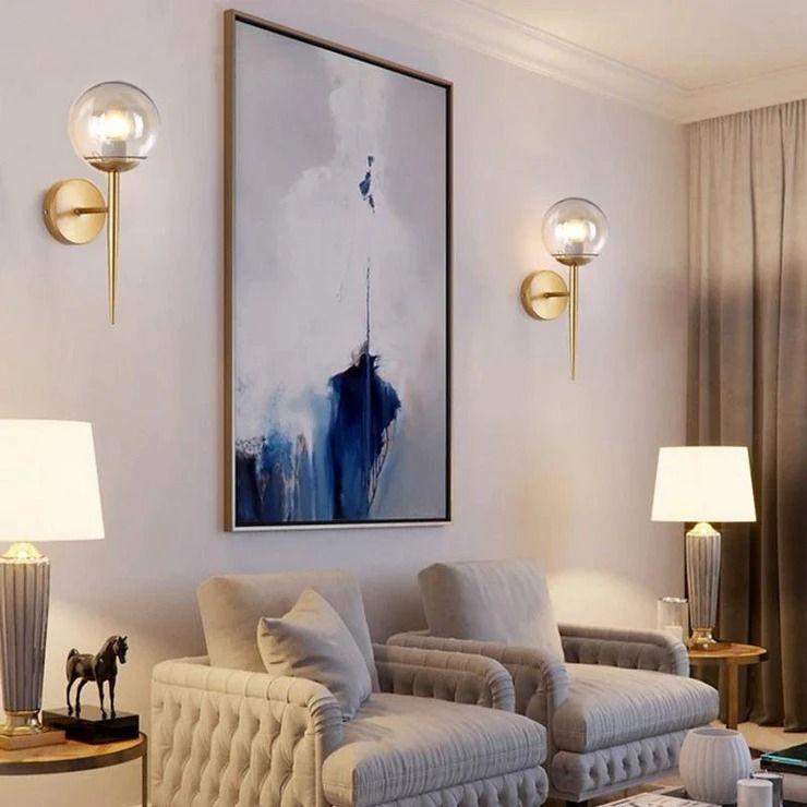 Glass Ball Wall Lamp Wall Lights Living Room Wall Lamps Living Room Wall Sconces Living Room