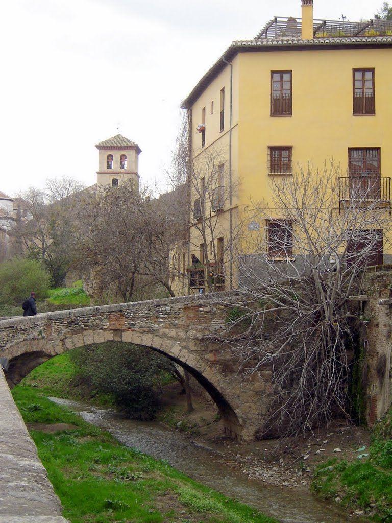 Granada a bridge across the Darro photo © Robert