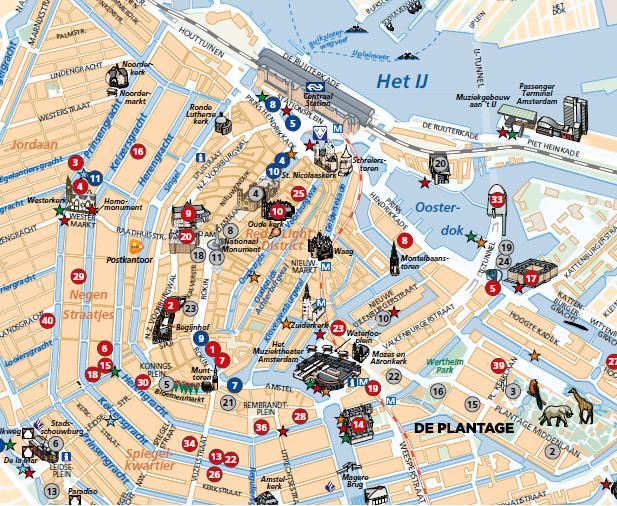 Mapa do centro de amsterdam fonte i amsterdam maps for B b ad amsterdam centro