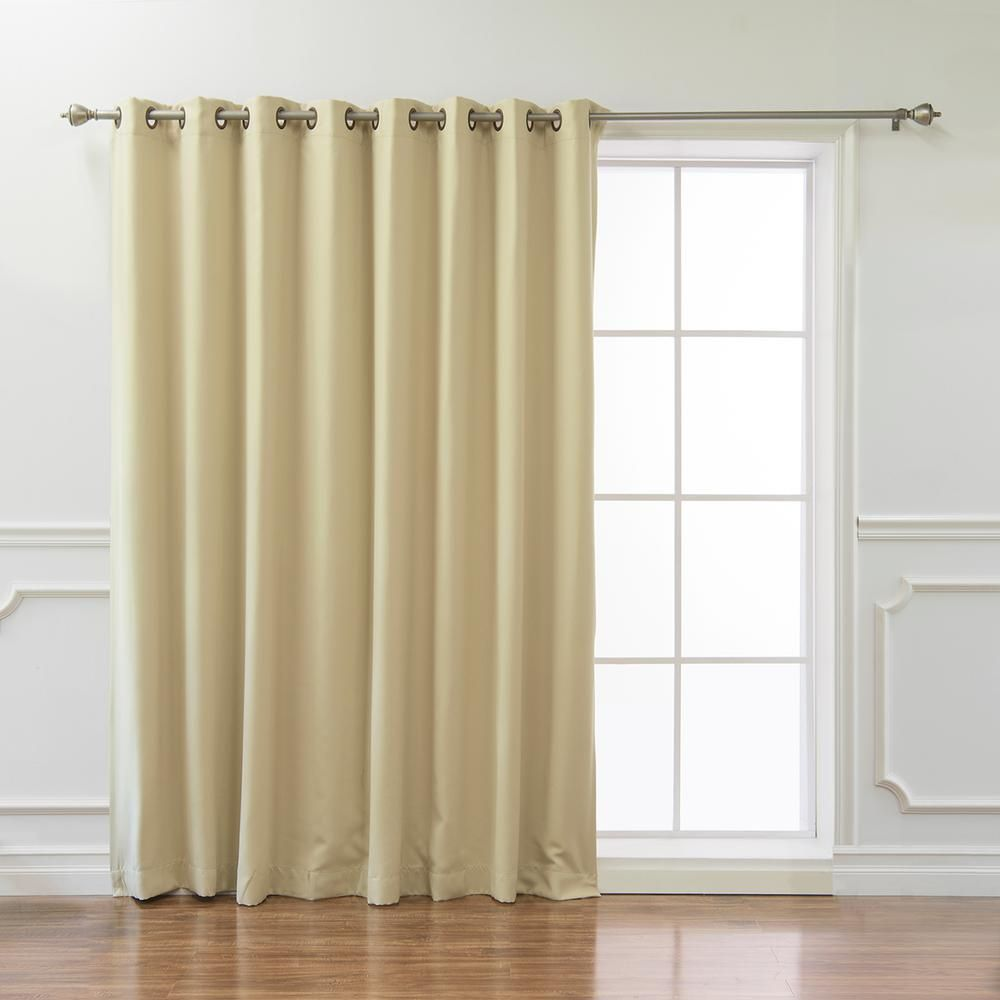 Best Home Fashion Wide Basic 100 In W X 84 In L Blackout Curtain