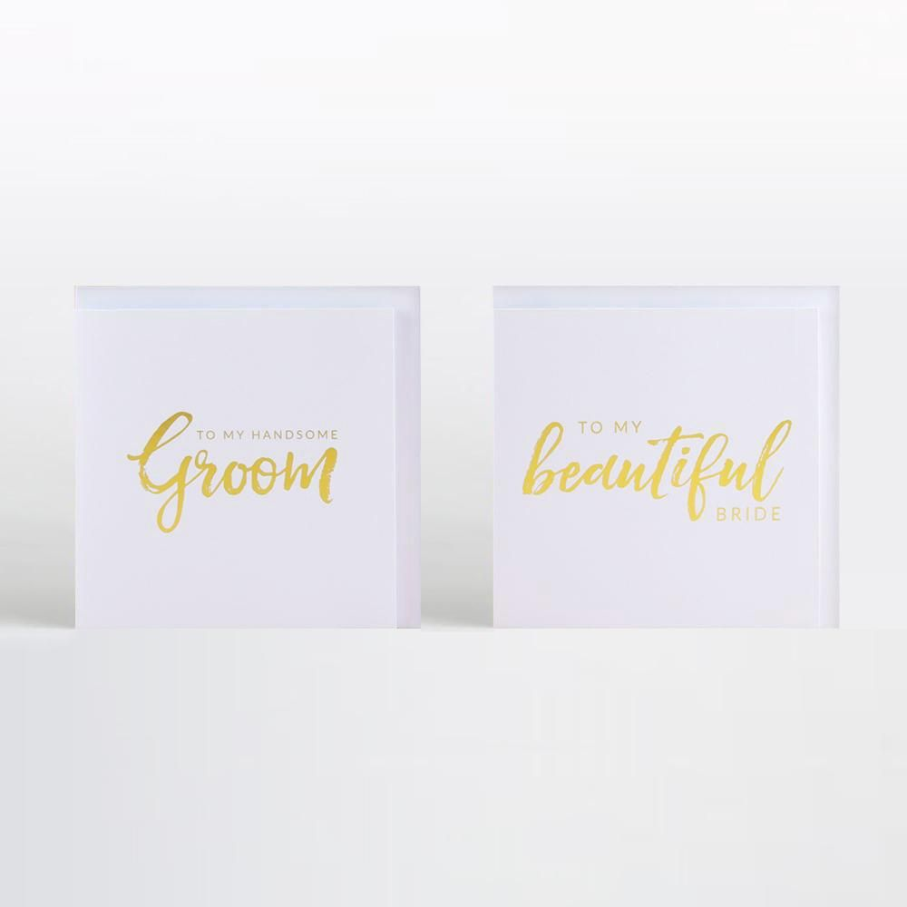 Real Foil Card Bride and Groom Cards Wedding Greeting Cards Real Foil To My Beautiful Bride Wedding Cards Gold Cards