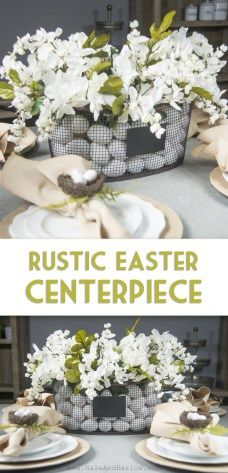 Rustic Easter Centerpiece From HaleAndHarlow