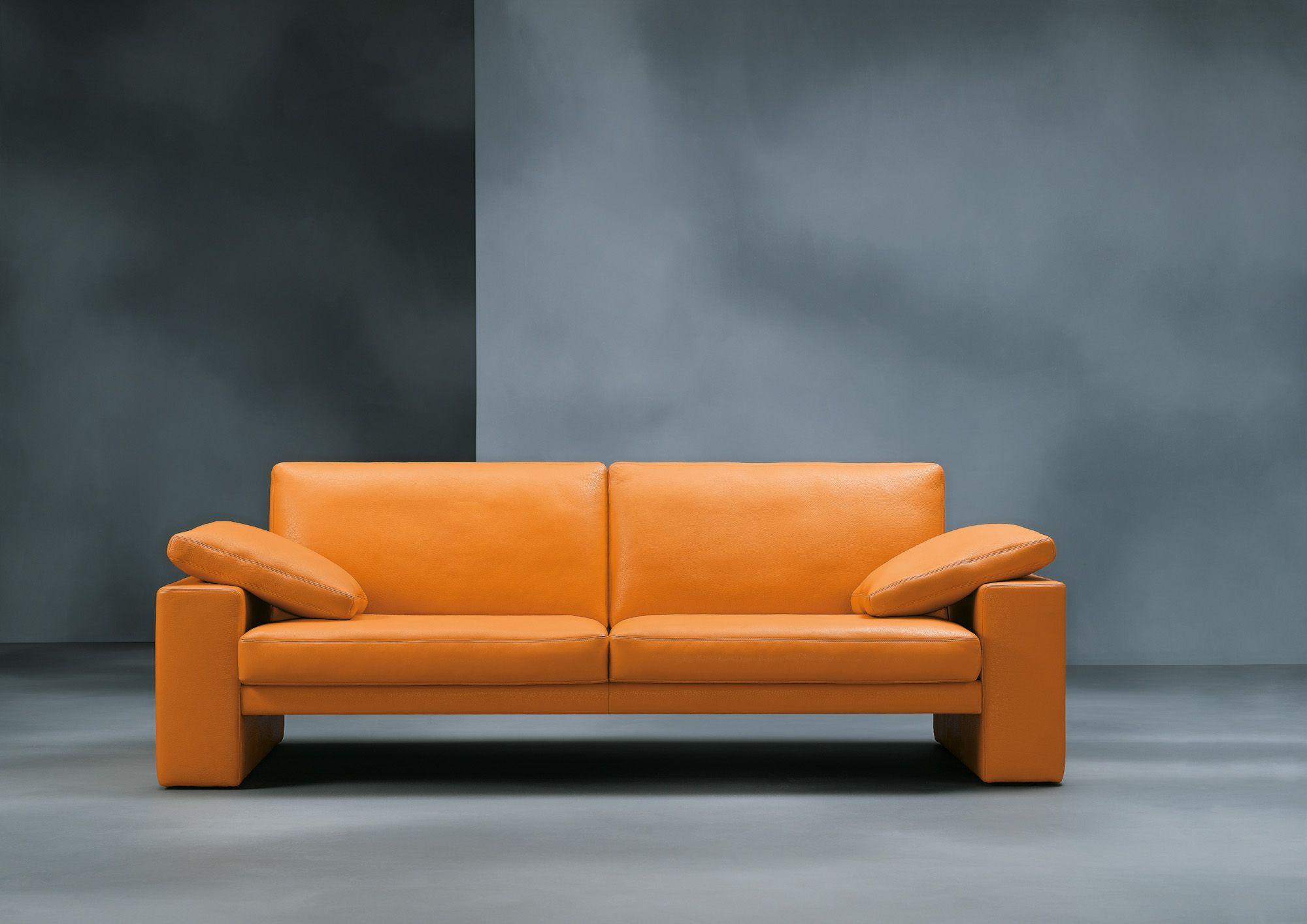 Polstermöbel Färben modernes sofa leder orange in verschiedenen farben erhältlich