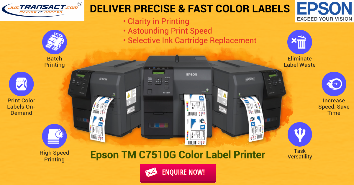 Epson TM C7510G Color Label Printer | Justransact | Printing