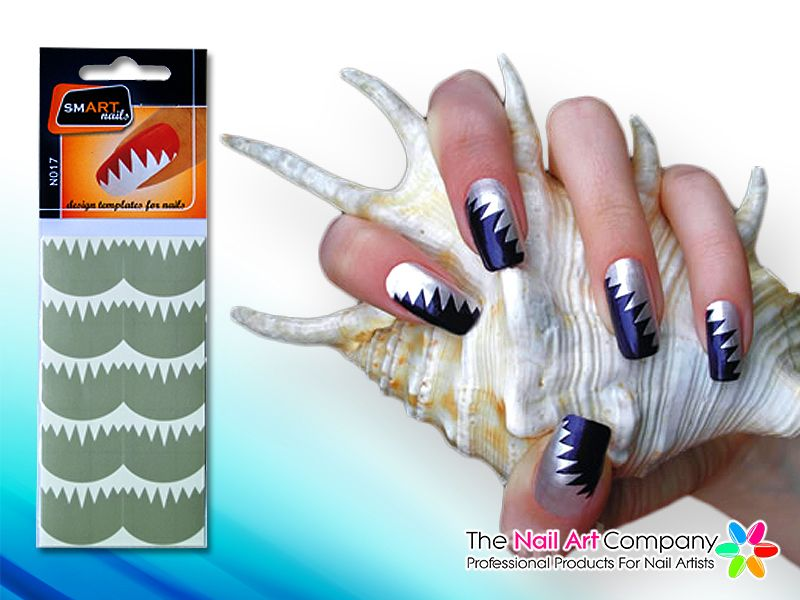 The Nail Art Company Smart Nails Big Teeth Nail Art Stencil Set