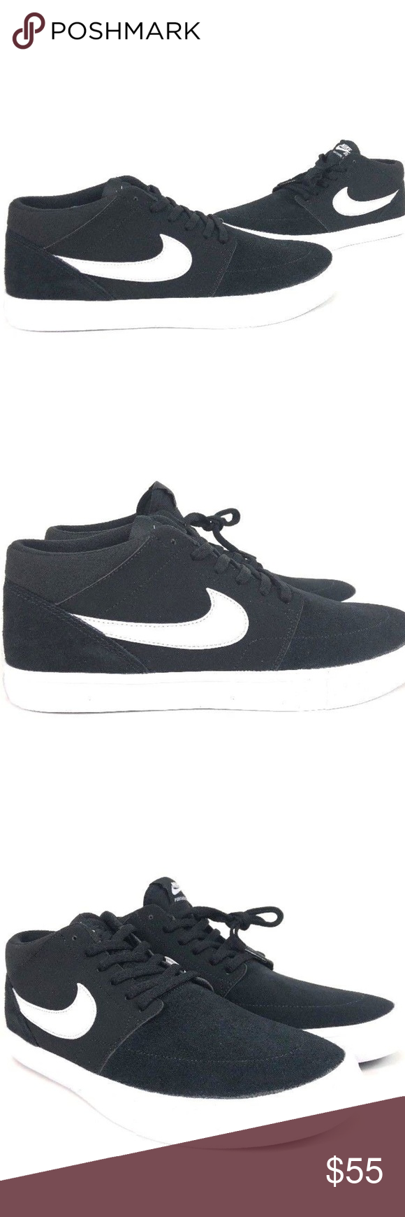 sports shoes 008f6 c7a09 Nike SB Solarsoft Portmore Mid Mens Casual Shoes Nike SB Solarsoft Portmore  II Mid Men s Casual Shoes Size 10.5 Black 923198-011 These Casual NIKE Shoes  are ...
