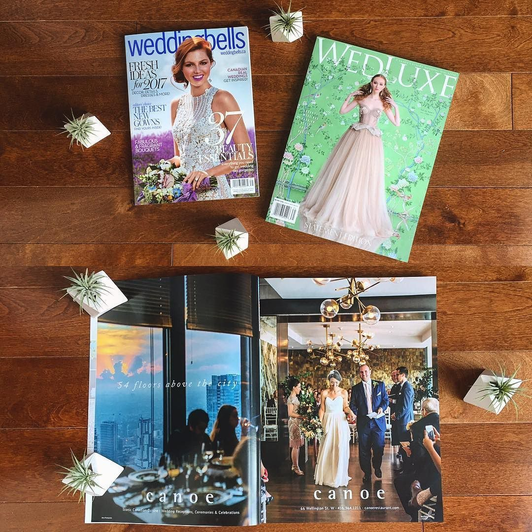 Wowie. Full 2-page spreads in both @weddingbellsmag & @wedluxe for @canoerestaurant -- I may have jumped up and down with delight when I saw this!