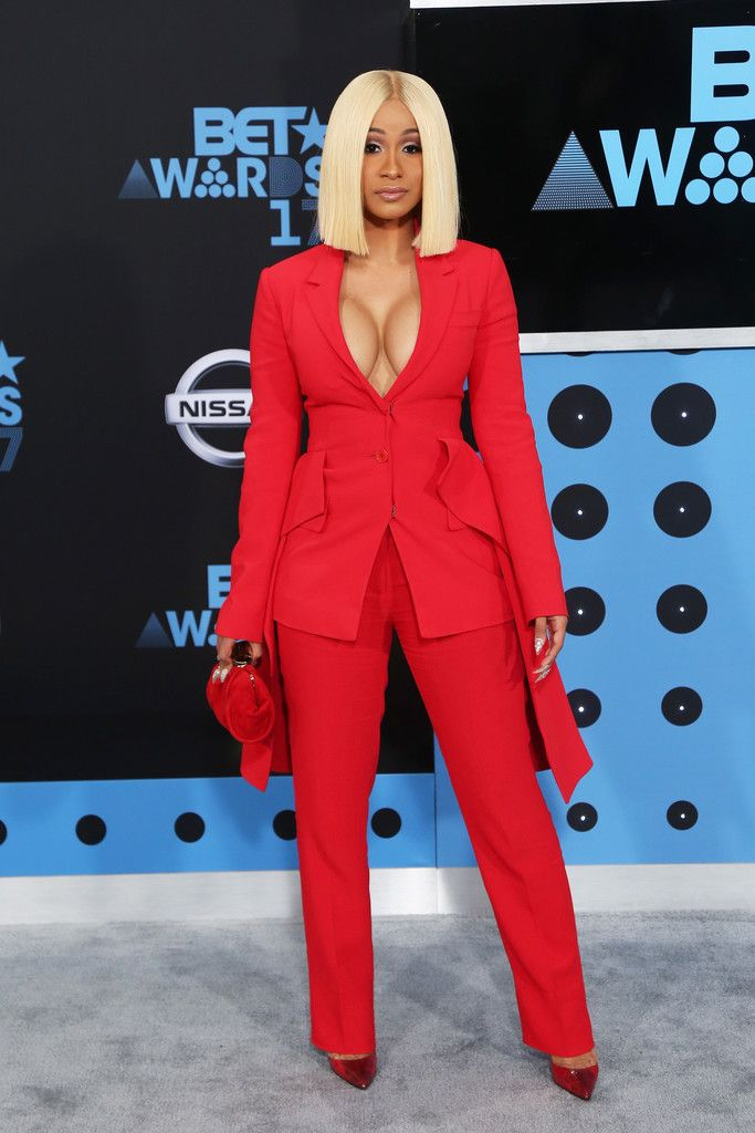 Cardi B in Givenchy suit @ BET awards