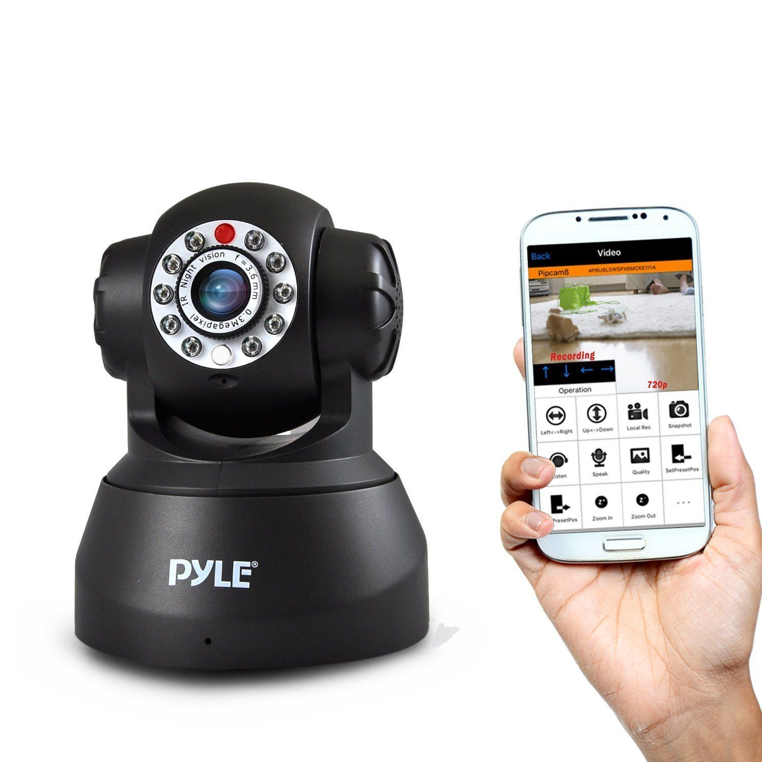 Pyle pipcam ip camera surveilance security monitor with Ip camera