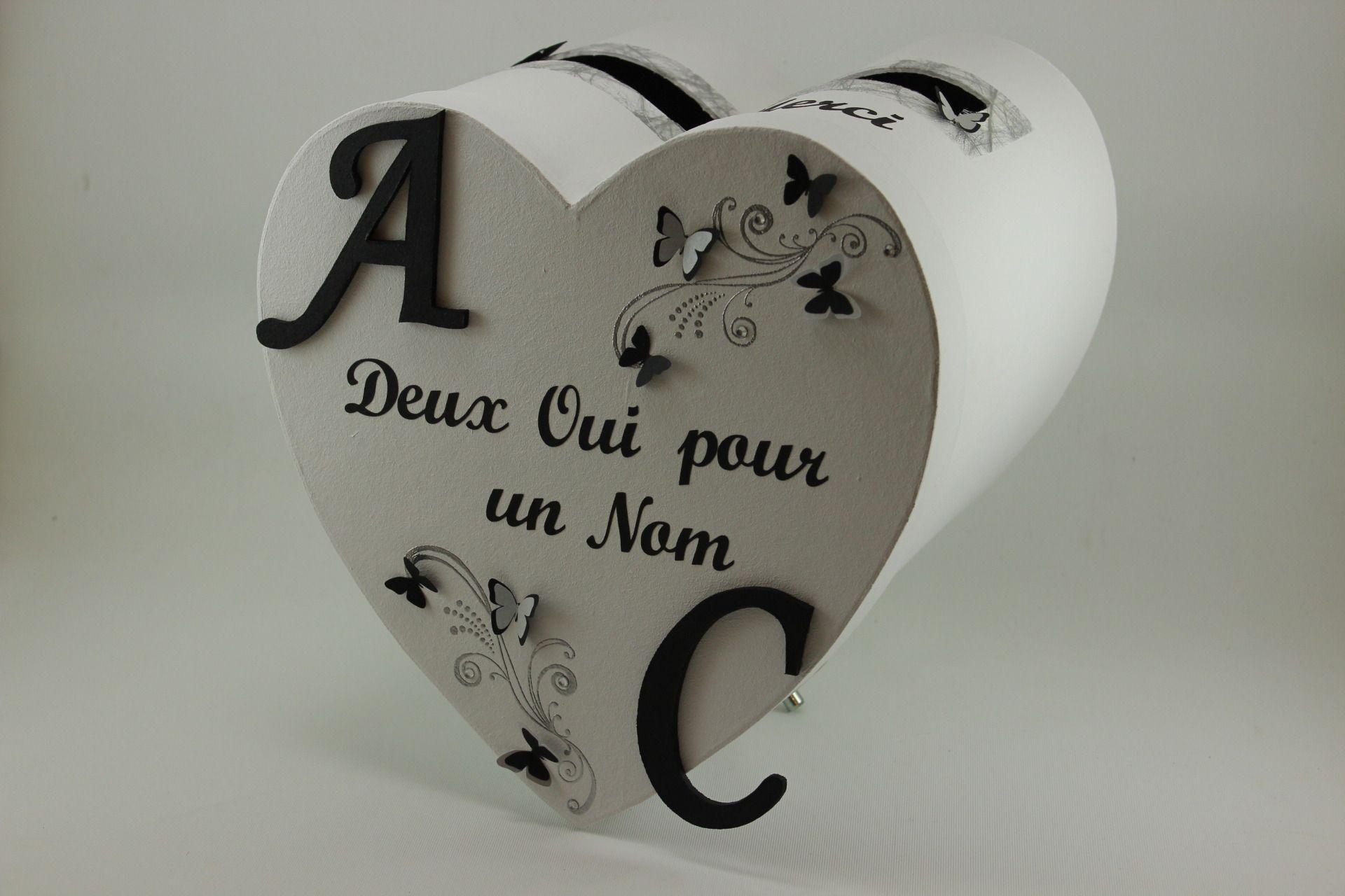 urne de mariage noire et blanche th me papillons mariage et papillons. Black Bedroom Furniture Sets. Home Design Ideas