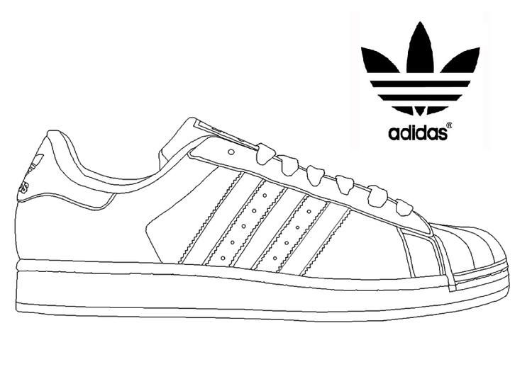 Adidas Superstar Sneakers Coloring Page Sneakers Drawing Adidas Superstar Sneaker Art