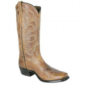 4fd1e3e9be0 Rios of Mercedes Mens Burnished Goat Boots - Tan | Pinto Ranch ...