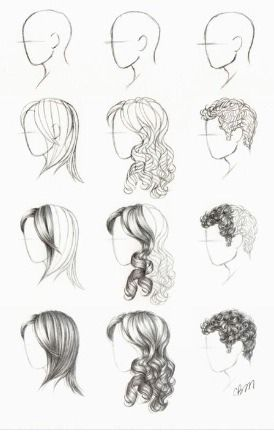 How To Draw Hair Side How To Draw Hair Drawing Hair Tutorial Drawing Tutorial