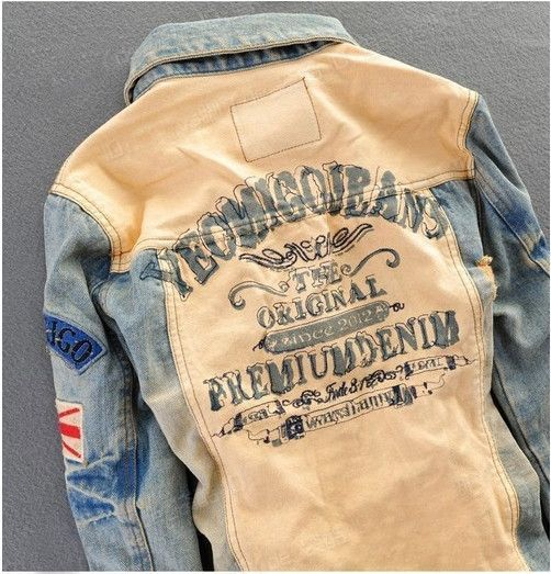 1a61a714c761 Willstyle Men s Retro Style Denim Jacket