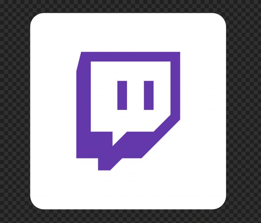 Hd Twitch White Purple Square Icon Transparent Background Png In 2021 Transparent Background Icon Transparent