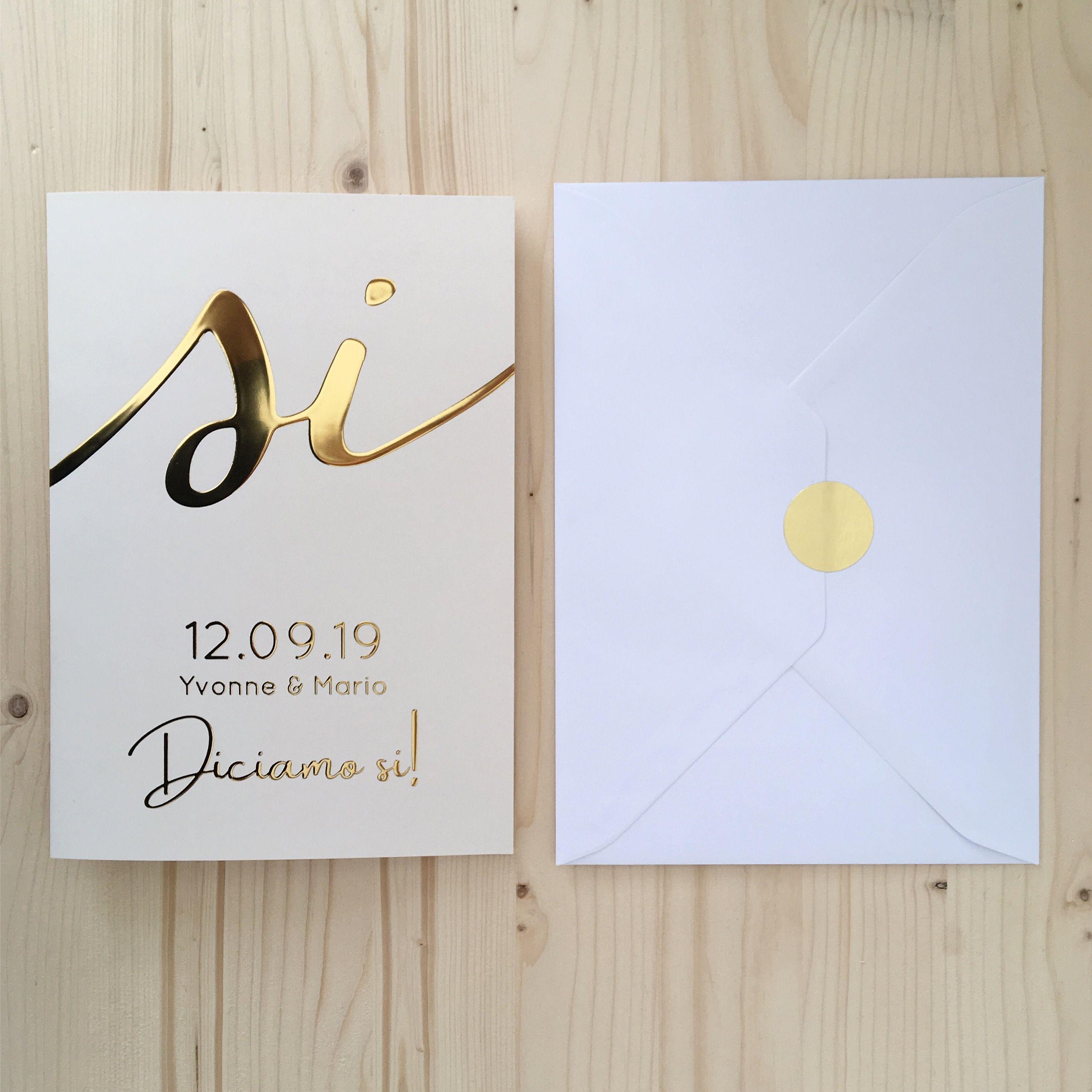 Trouwkaart Diciamo Si Bruiloftsuitnodigingen Bruiloft En