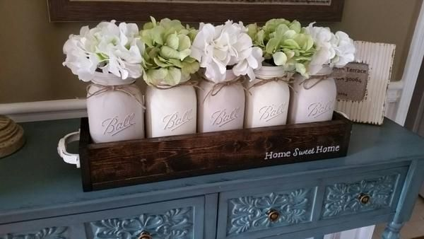 Home Sweet Home Mason Jar Centerpiece Mason Jar Centerpieces Jar Centerpieces Mason Jar Decorations