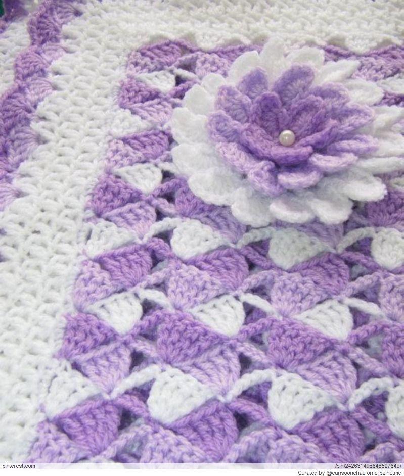 Crochet Patterns cobija tejida | crochet | Pinterest | Cobija ...