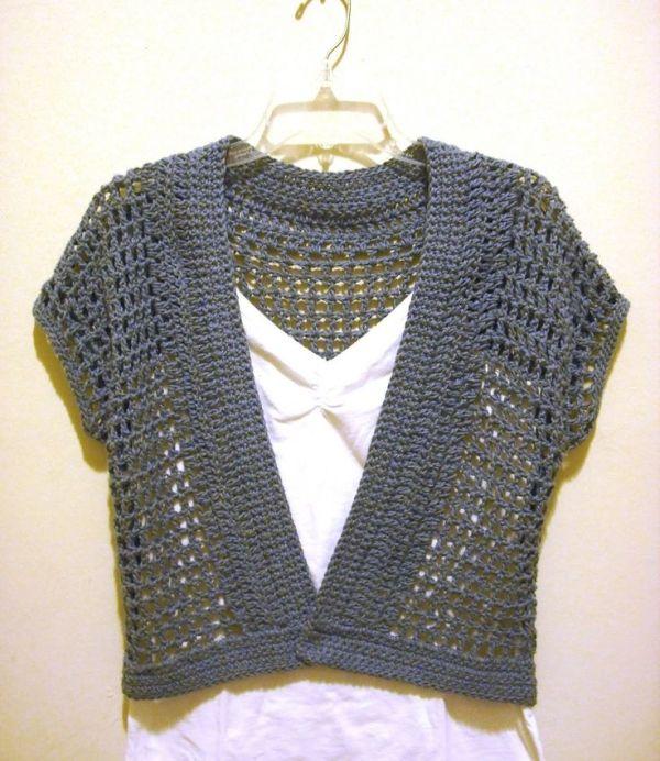 Free Crochet Shrug Patterns The Handmade Way The Short Sleeved
