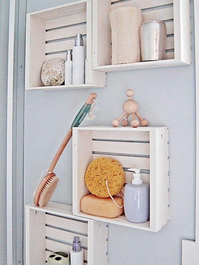Genial Efficient Bathroom Storage Ideas For Small Spaces : Wall Shelves Bathroom  Storage Ideas For Small Spaces