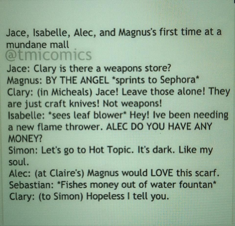 The Mortal Instruments shopping