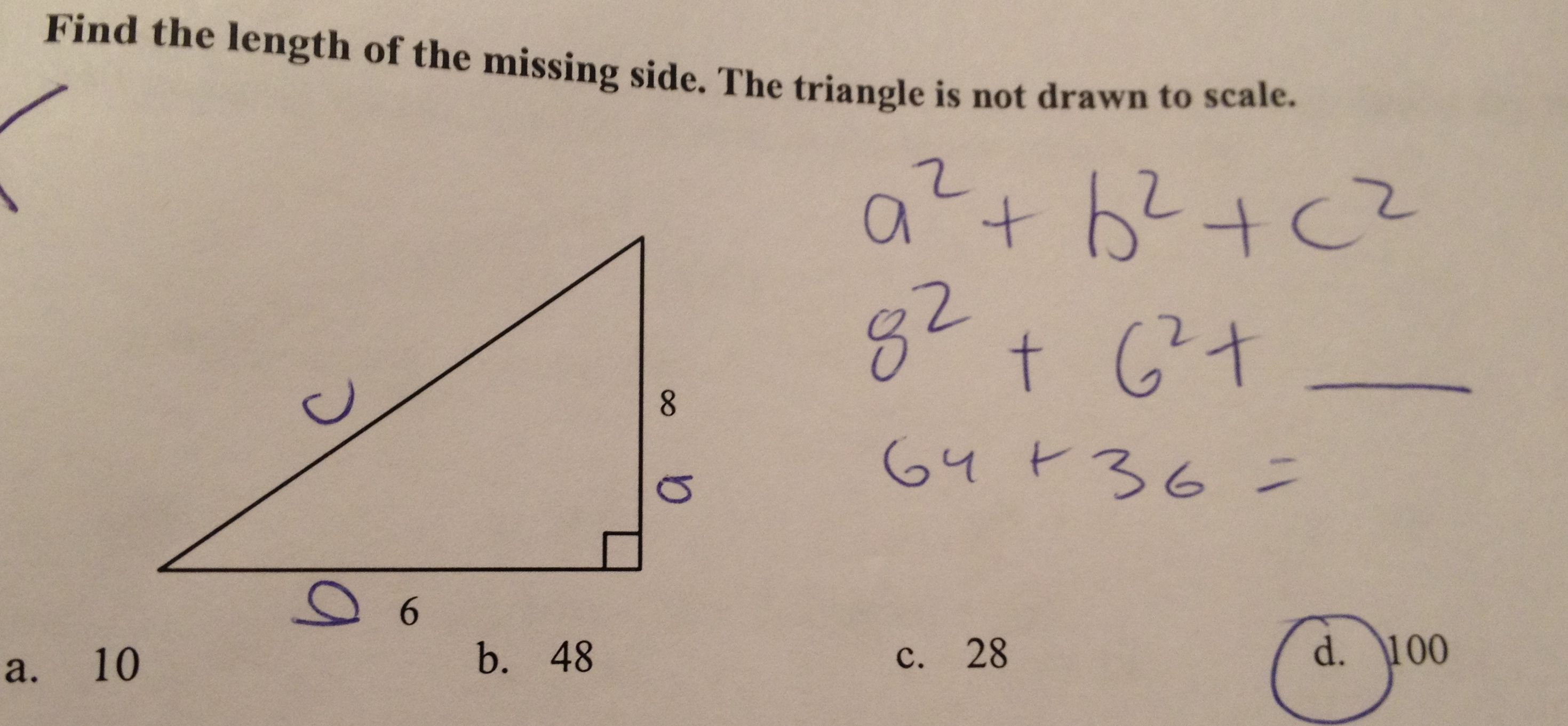 Pythagorean Theorem Misconceptions Pythagorean Theorem High School Math Theorems [ 1362 x 2939 Pixel ]