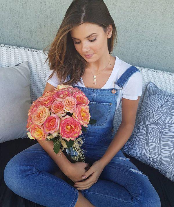 1b4ce67c9 O novo estilo da Camila Queiroz | Looks | Look vestido jeans ...